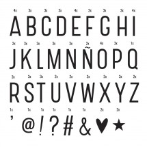 ALLC - letter set: Basic - black