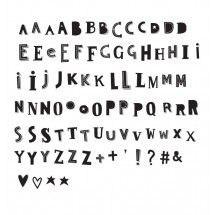 ALLC - letter set: Funky black