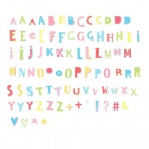 ALLC - letter set: Funky colors